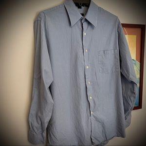 DKNY classic blue button down shirt 16 1/2 - 34/35